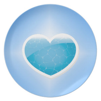 Blue Heart - Happy Birthday Sister Plate