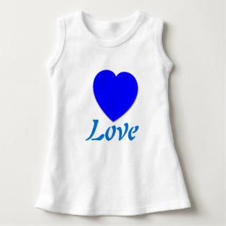 Blue Heart Love Sleeveless Dress
