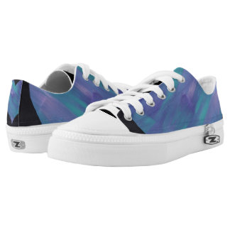 Blue Heart Low Top Shoes Zip off Tops