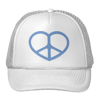 Blue Heart of Love, Peace Sign Cap