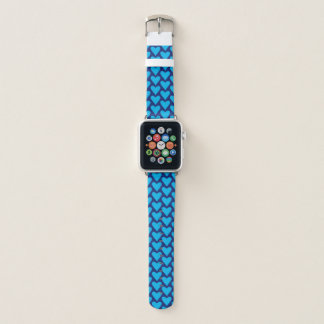 Blue Heart Pattern Apple Watch Band