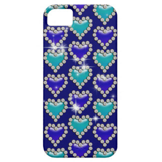 Blue heart pattern iPhone 5 covers