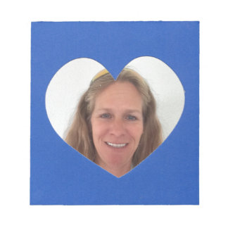 Blue Heart Photo Frame Notepad
