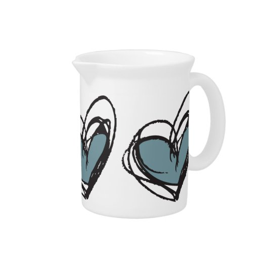 Blue Heart Pitcher— Trendy & Elegant Pitcher