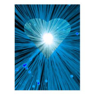 Blue Heart postcard vetical
