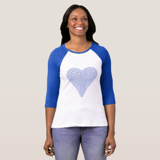 Blue Heart Raglan Shirt