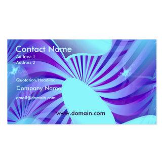 Blue Heart Star Pattern Business Card