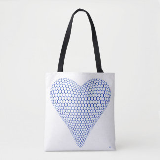 Blue Heart Tote Bag