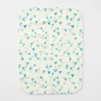 Blue Hearts Burp Cloth