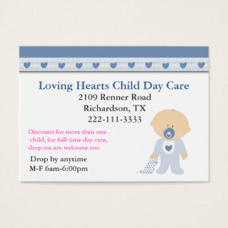 Blue Hearts Child Care Business Card