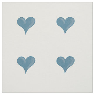 Blue hearts fabric