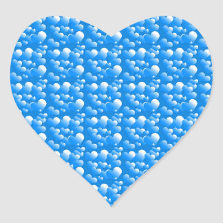 Blue Hearts Heart Sticker