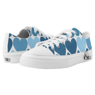 Blue Hearts Low Tops