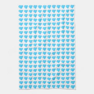 Blue Hearts Tea Towels