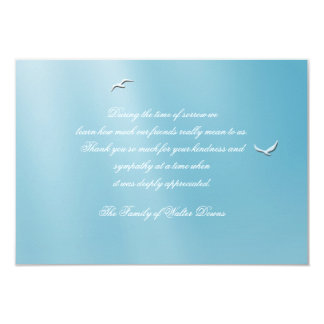 Blue Heaven Bereavement Thank You Notecard 9 Cm X 13 Cm Invitation Card