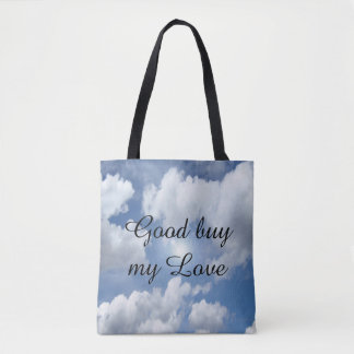 Blue Heaven Clouds I + your text & ideas Tote Bag