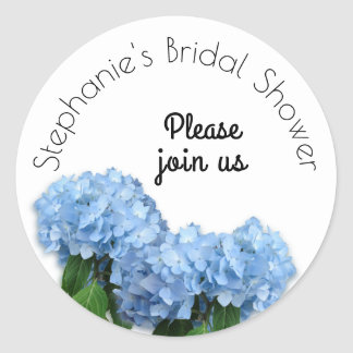 Blue Heaven Floral Bridal Shower Envelope Seal
