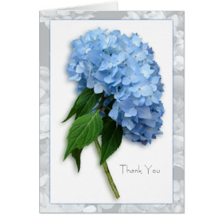 Blue Heaven Hydrangea on Stem Thank You Note Card