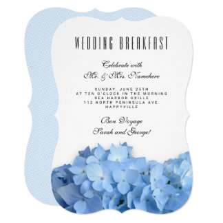 Blue Heaven Newlyweds Wedding Breakfast Invitation