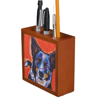 Blue Heeler Dog  Pop Art Desk Organiser