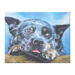 Blue Heeler Fine Art Painting on Wrapped Canvas Gallery Wrapped Canvas