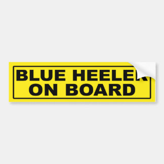 Blue Heeler on Board Bumper Sticker