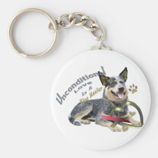 Blue Heeler Unconditional Love Key Ring