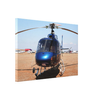 Blue helicopter canvas print