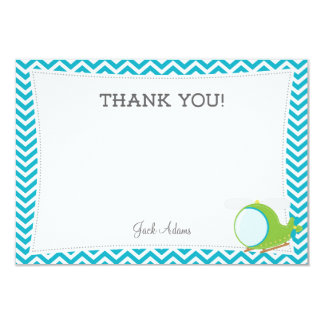 Blue Helicopter Thank You Card 9 Cm X 13 Cm Invitation Card