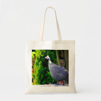 Blue Helmeted Guinea Fowl standing in the sun Budget Tote Bag