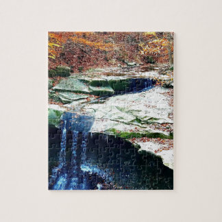 Blue Hen Falls Cuyahoga National Park Ohio Jigsaw Puzzle