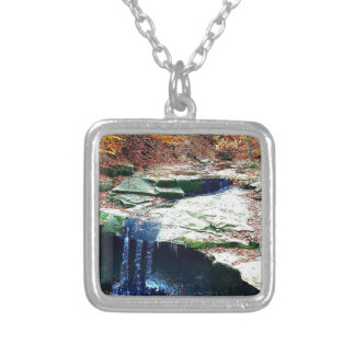 Blue Hen Falls Cuyahoga National Park Ohio Silver Plated Necklace