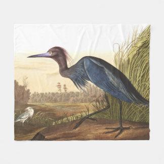 Blue Heron Birds Wildlife Pond Fleece Blanket