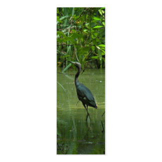 Blue Heron Bookmark Business Cards