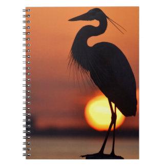 Blue Heron Silhouette Notebook