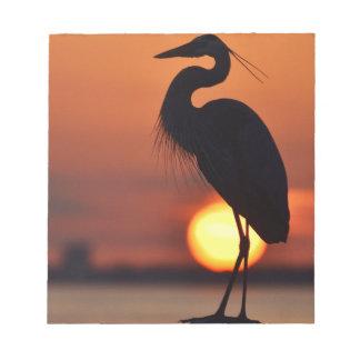 Blue Heron Silhouette Notepad