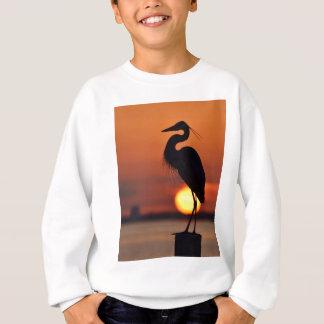 Blue Heron Silhouette Sweatshirt