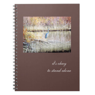 Blue Heron Standing Alone Journal Note Books