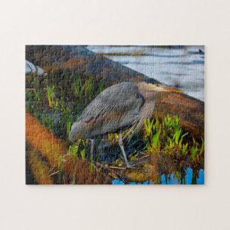 Blue Heron Stanley Park Vancouver. Jigsaw Puzzle