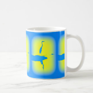 blue heron sunrise coffee mug