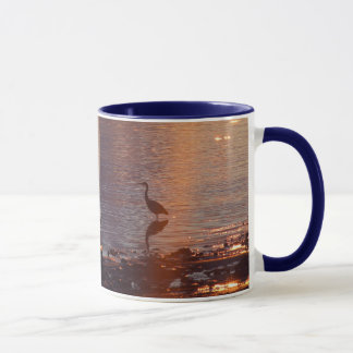 Blue Heron Sunset Mug