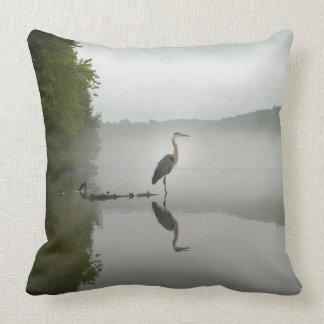 Blue Heron throw pillow