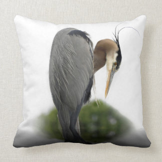 Blue Heron Throw Pillows