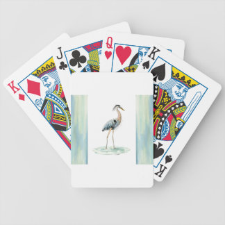 Blue Heron watercolor Bicycle Playing Cards