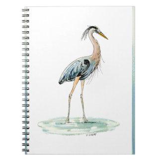 Blue Heron watercolor Notebook
