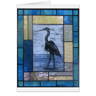Blue Heron with Blues Card
