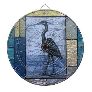Blue Heron with Blues Dartboard