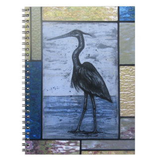 Blue Heron with Blues Notebooks