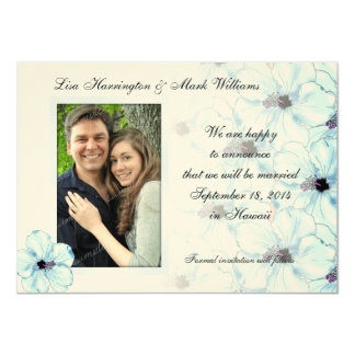 Blue Hibiscus Art, Save the Date Picture Cards