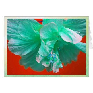Blue hibiscus card